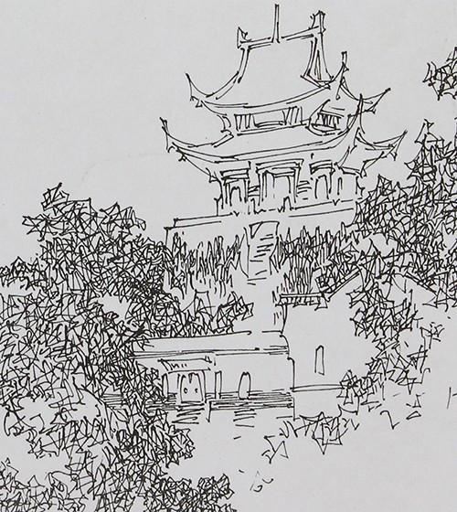 广州画室:钢笔速写的表现方法与构图要领