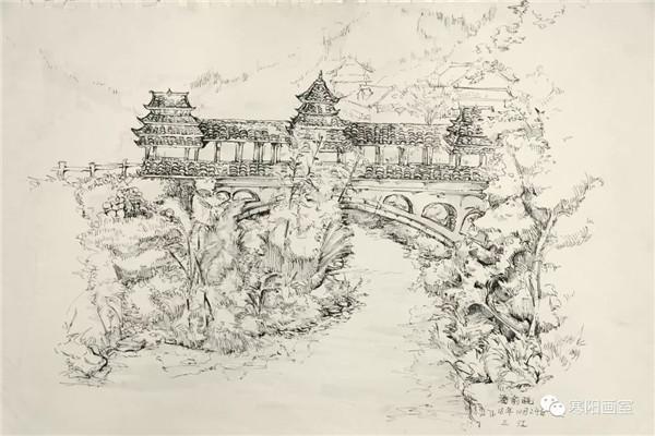 初学者学习风景速写要掌握的基本技法-广州寒阳画室